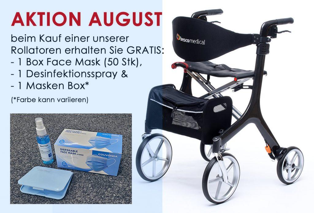 August Aktion: GRATIS Hygiene-Set zu jedem Rollator