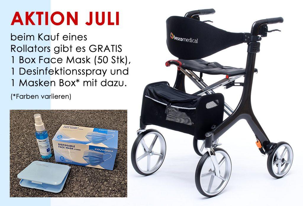 Juli Aktion: nochmals Rollator inklusive GRATIS Hygiene-Set