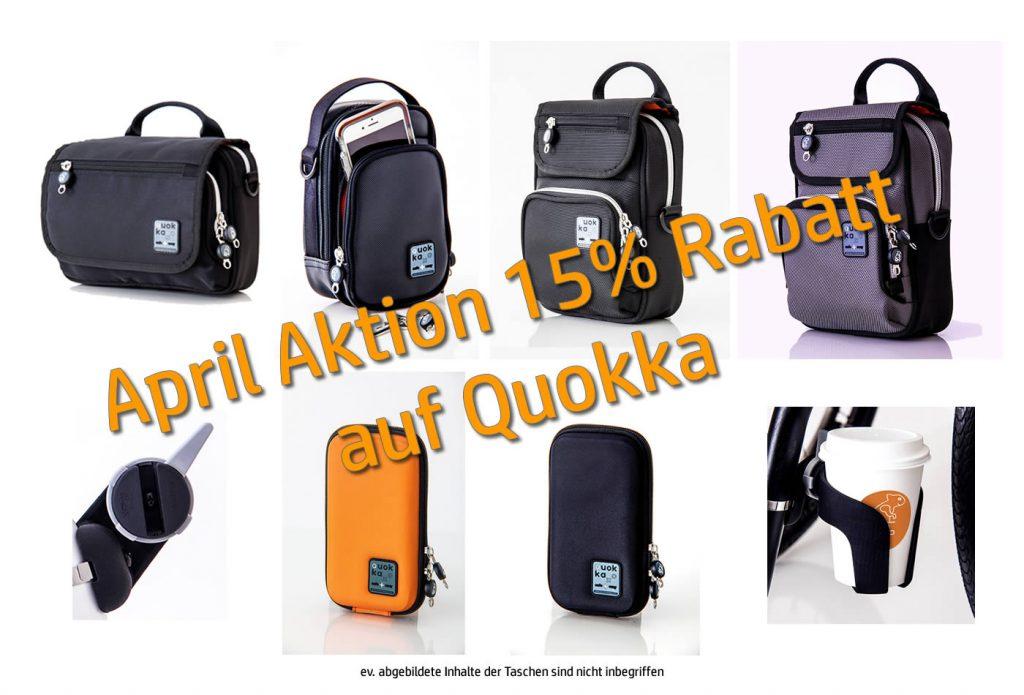 April Aktion – QUOKKA Zubehör bei Rehab GmbH, Wallisellen